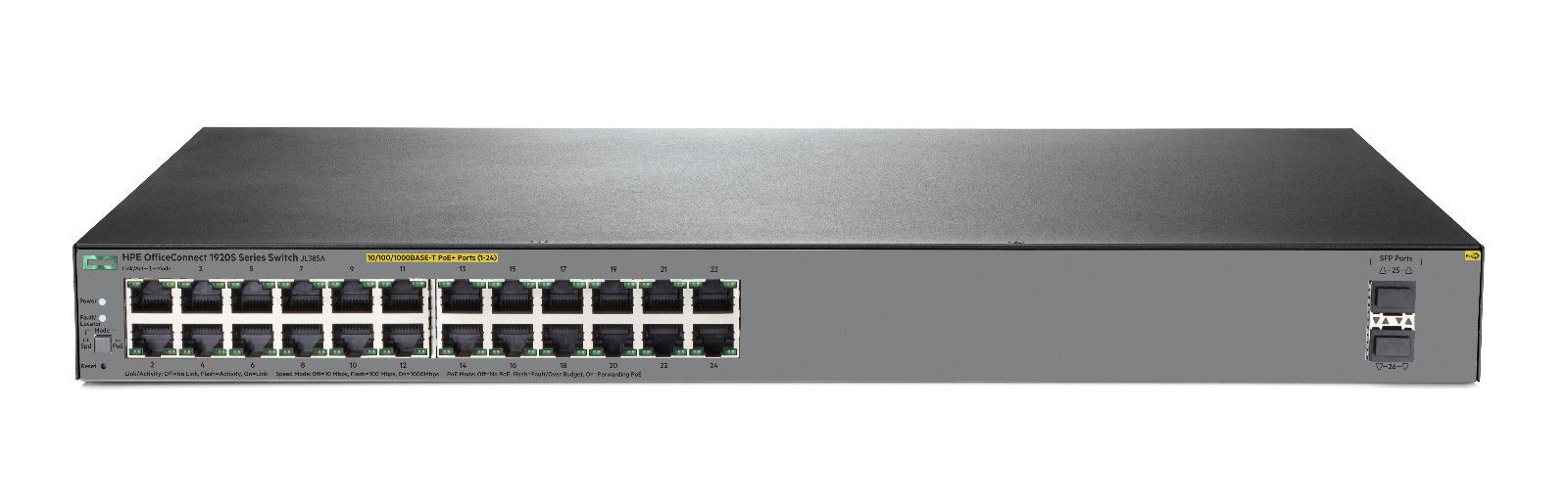 NEW HP HPE OfficeConnect 1920S 24G 2SFP PoE+ 370W Switch JL385A#ABA