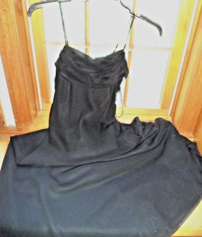 Betsy & Adam long black straight lined formal dress...Sz.6.