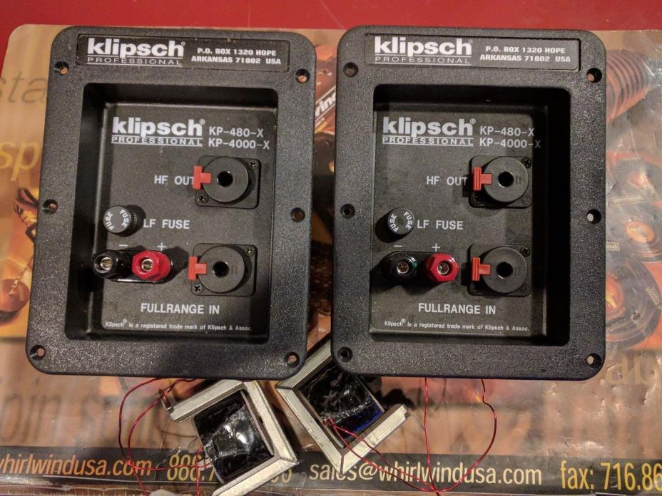 2 - Klipsch KP-4000-X Crossovers KP-480-X New Old Stock
