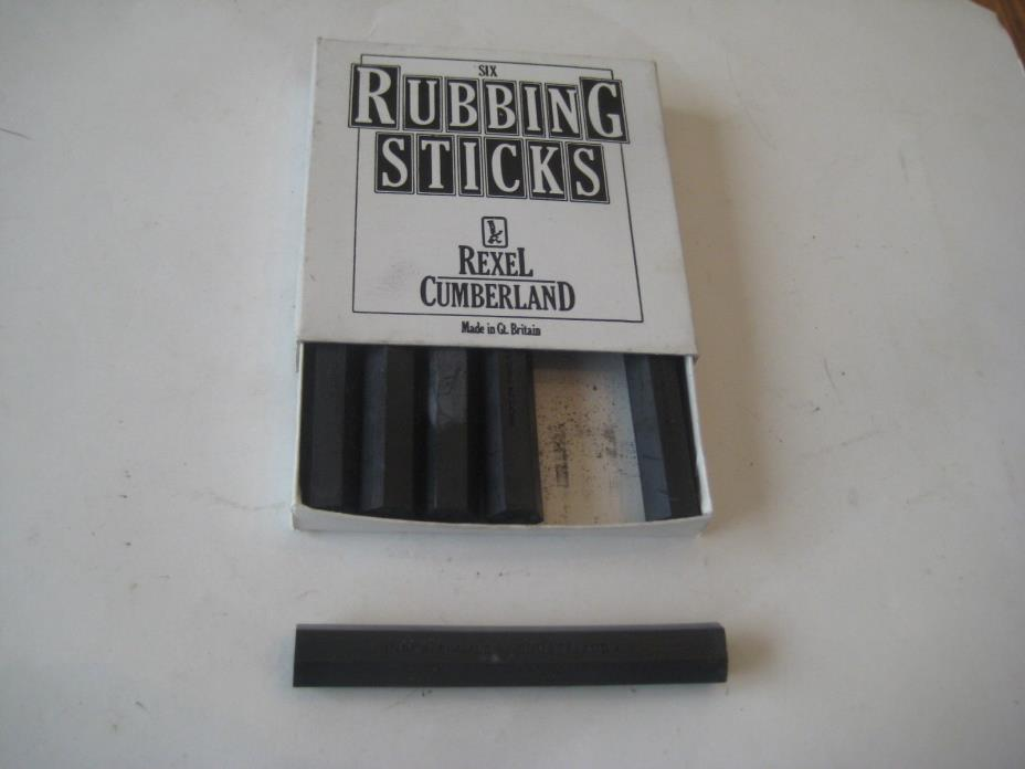 Compressed Charcoal Sticks  6 Pack Black Drawing Lettering Rexel Cumberland