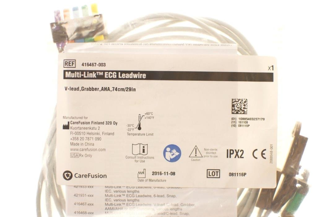 New GE 416467-003 Leadwire, Multi-Link V-lead Grabber AHA Carefusion 74cm / 29in