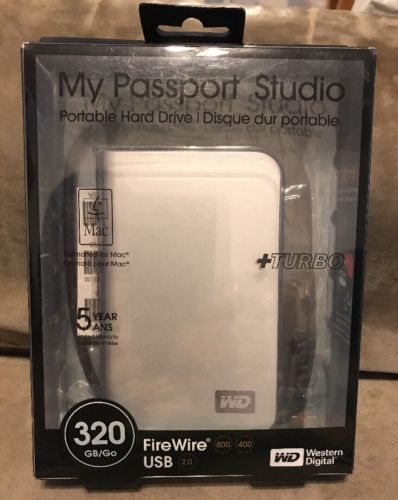 Western Digital My Passport Studio 320 GB FW/USB2 External Drive
