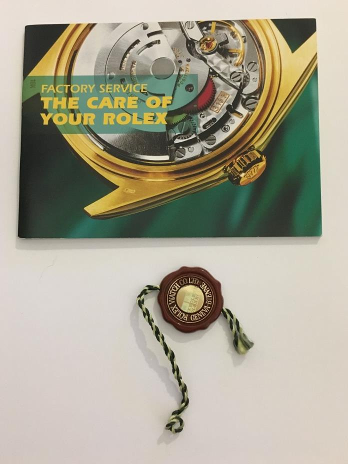 LOT of ROLEX FACTORY SERVICE BOOKLET  & Rolex RED SEAL HANGTAG Recent Style