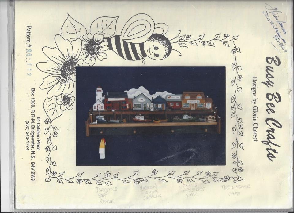 Dockside Tole Painting Packet by Gloria Charest