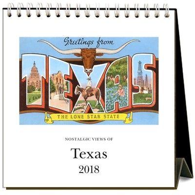 2018 Texas Nostalgic Easel Calendar,  Texas by Found Image Press