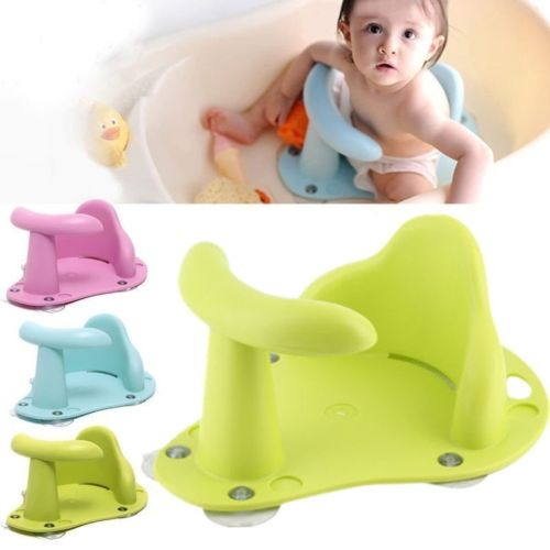 Antislip Safety tub Bath Seat Support Safety Chair Pad for Baby Toddler Child US