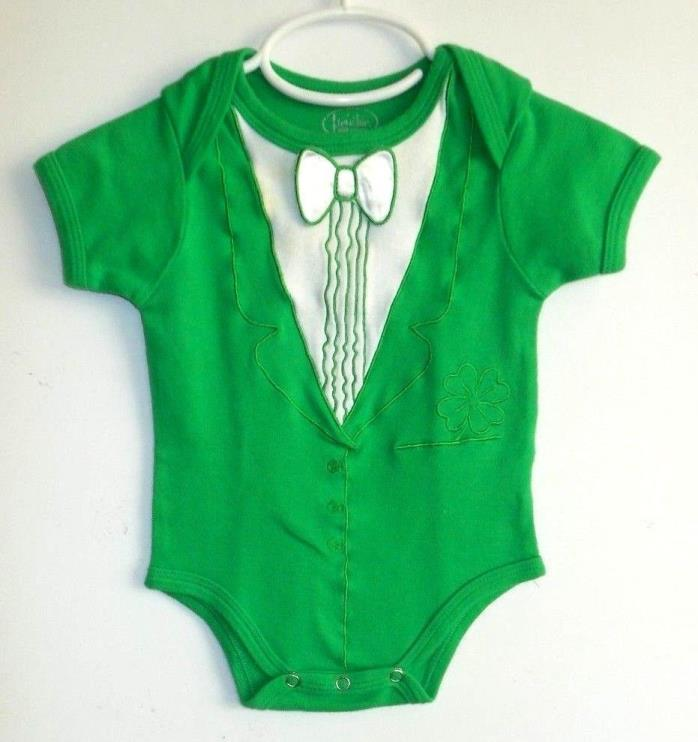 Infant Baby Body Suit Reindeer Christmas Holiday Stripe Gender Neutral New