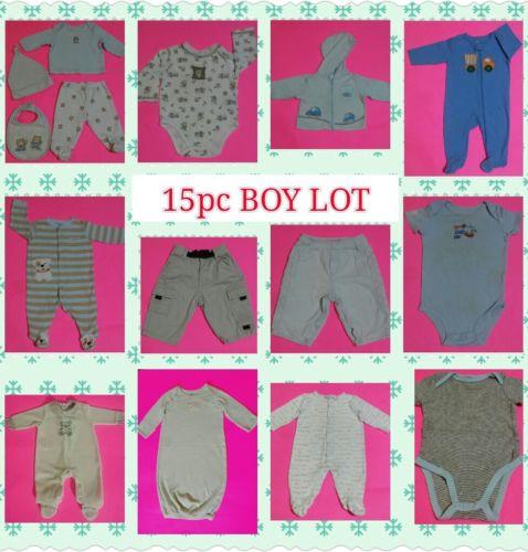 Baby boy bundle lot 15pc 0-3M 3M 3-6M