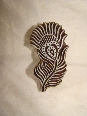 WOODEN INDIAN PRINT, CRAFT BLOCK, STAMP,  FLOWER  HANDCARVED INDIA, NEW, UNUSED