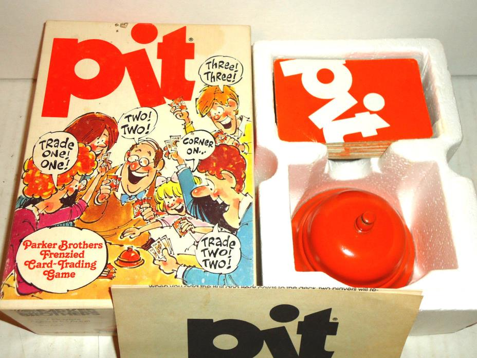 Vintage Parker Brothers PIT Trading Frenzy Card Game 1981 Orignal Orange Bell