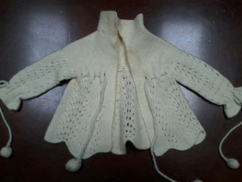 1930s vintage Baby Doll Woollen Handmade Sweater