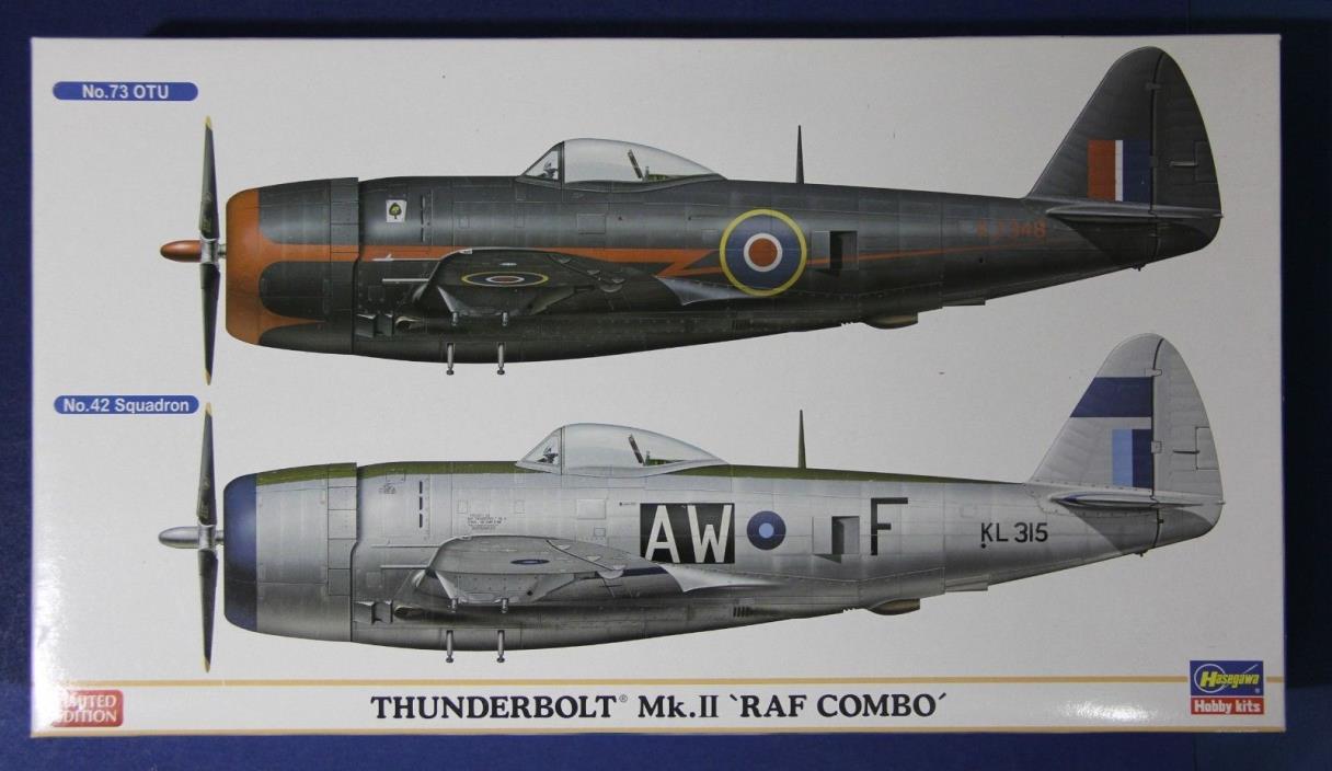 Hasegawa 02033: 1/72 Thunderbolt Mk.II RAF Combo 2 Kits in 1 Box Limited Ed Set