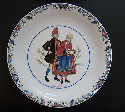 Rorstrand Swedish National Costumes Porcelain Plate Vastergotland Sweden