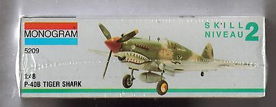 MONOGRAM 1/48 #5209 P-40B TIGER SHARK New & Sealed