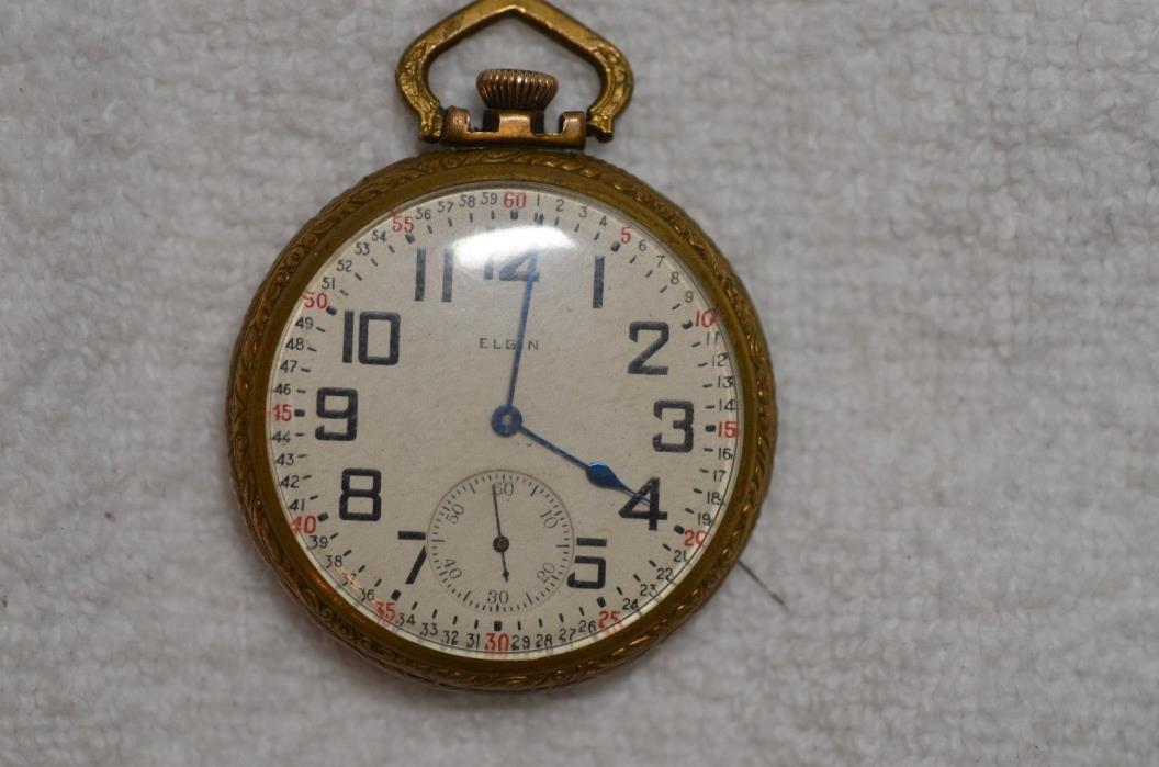 16S Elgin 21J Pocket Watch, B.W. Raymond Railroad Watch