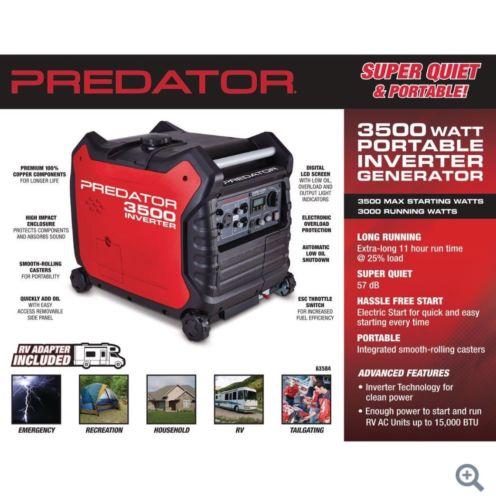 predator generator inverter 3500watts