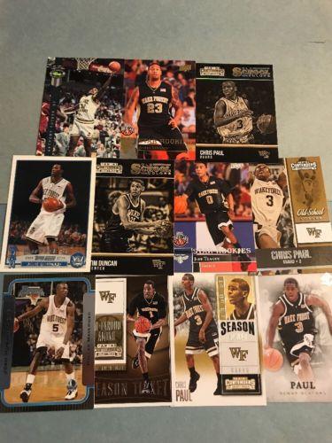 (196) Wake Forest Demon Decons Basketball Cards! Duncan- Paul- Aminu