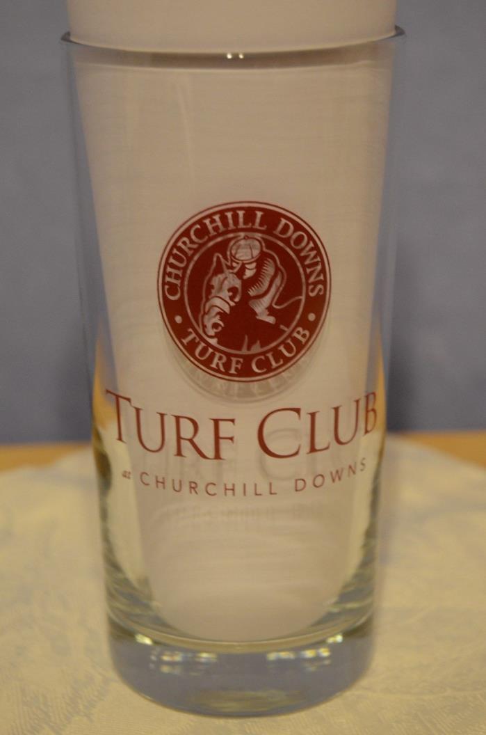Churchill Downs Turf Club Finlandia Vodka of Finland glass Ky Derby horse racing