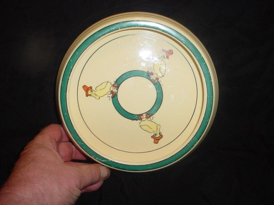 ANTIQUE 1910 ROSEVILLE POTTERY OHIO DUCK JUVENILE/BABY ROLLED EDGE BOWL/DISH.