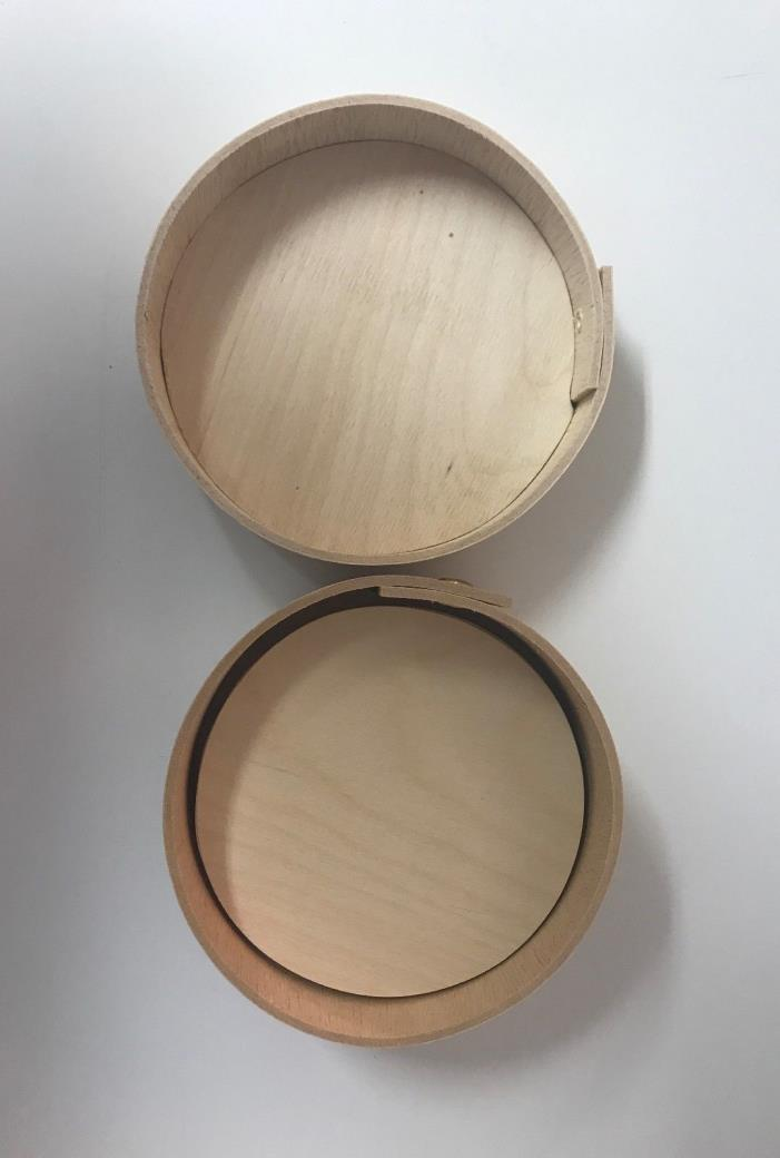 Paintable Wooden Boxes with Paintable Coasters~Round~Set of 6