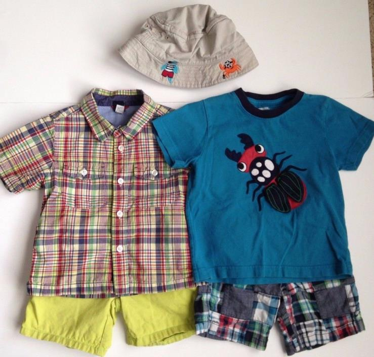 Gymboree Gap Shorts Shirts Tops Hat Toddler Boys Clothes Clothing Lot Sz 2T 3T