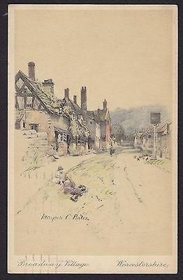 Artist-Marjorie Bates-Broadway Village-Worcestershire-UK-Vintage Postcard