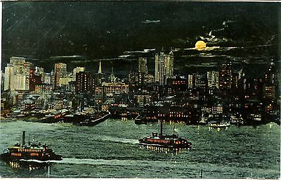 Old post card postcard boston mass. north union station horse carriage streetcar