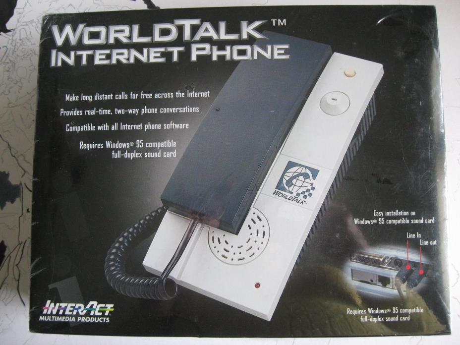 Vintage InterAct Multimedia Products World Talk Internet Phone SV-2030 New