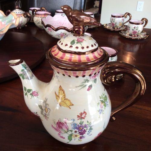 Mackenzie Childs Chelsea Lustre Teapot