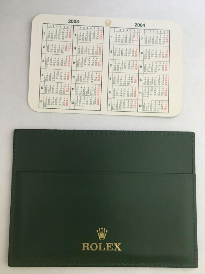 Lot Of Rolex Wallet Card Case Ref 4119209.05 And  Rolex Calendar 2003-04 Great