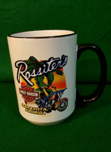 Rossiter's Harley Davidson Motorcycles Sarasota Florida Coffee Mug 2003 EUC
