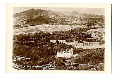 Old post card postcard UK Dunrobin Castle aerial view