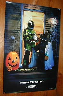 Arctic Cat Wall Poster - Waiting For Winter? - Trick or Treat!!! Collectible