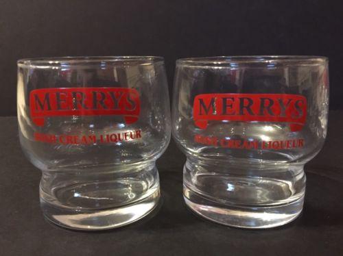 Merrys Irish Cream Liqueur 6 oz Glasses Set Of 2