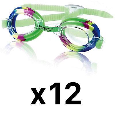 Speedo Kids Tye-Dye Splasher Goggle - Kids Swim Goggle - Kelly Green (12-Pack)