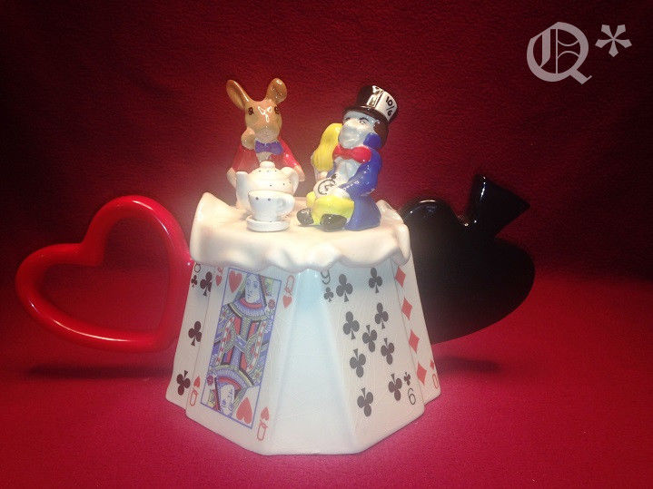 1991 MOKA Paul Cardew South West Ceramics Teapot Alice In Wonderland