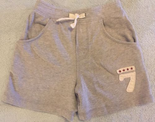Faded Glory Toddler Boys Gray Cotton Shorts with #7 Size 3T