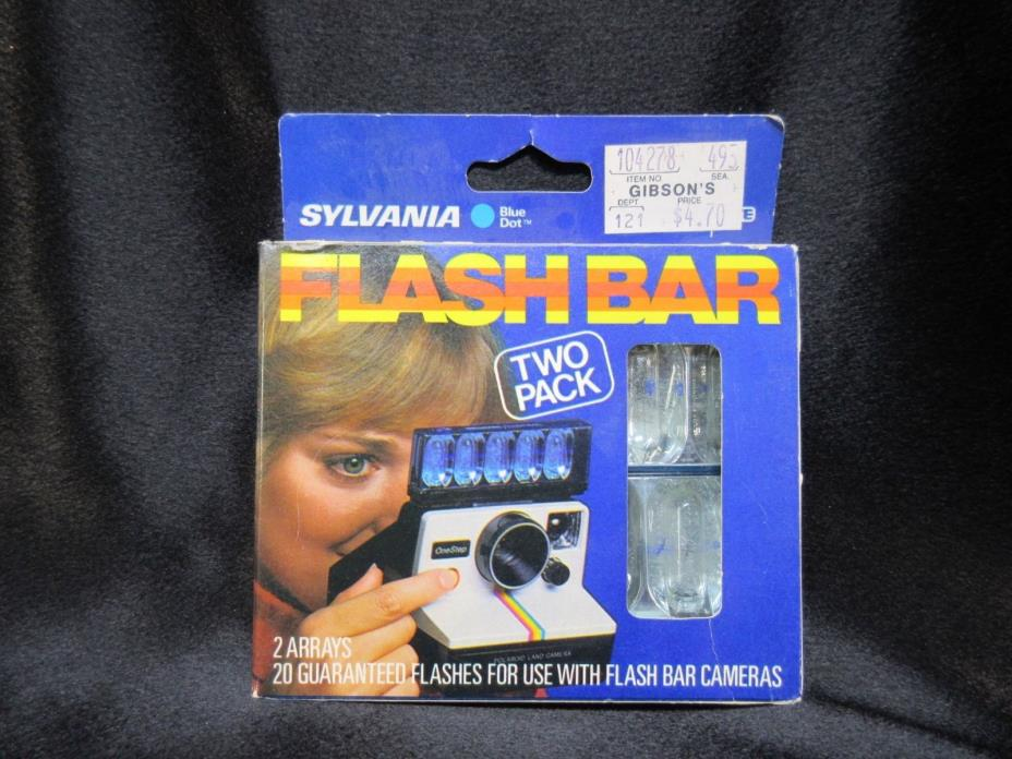 Vintage Sylvania Blue Dot Flash Bar Two Pack - 20 Flashes, New Old Stock