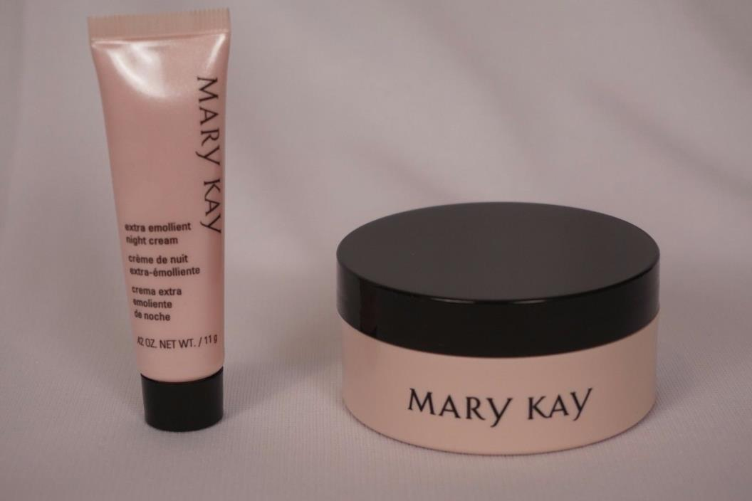 Mary Kay I Love Extra Emollient Night Cream Gift Set ~ Jar and Tube ~ New!