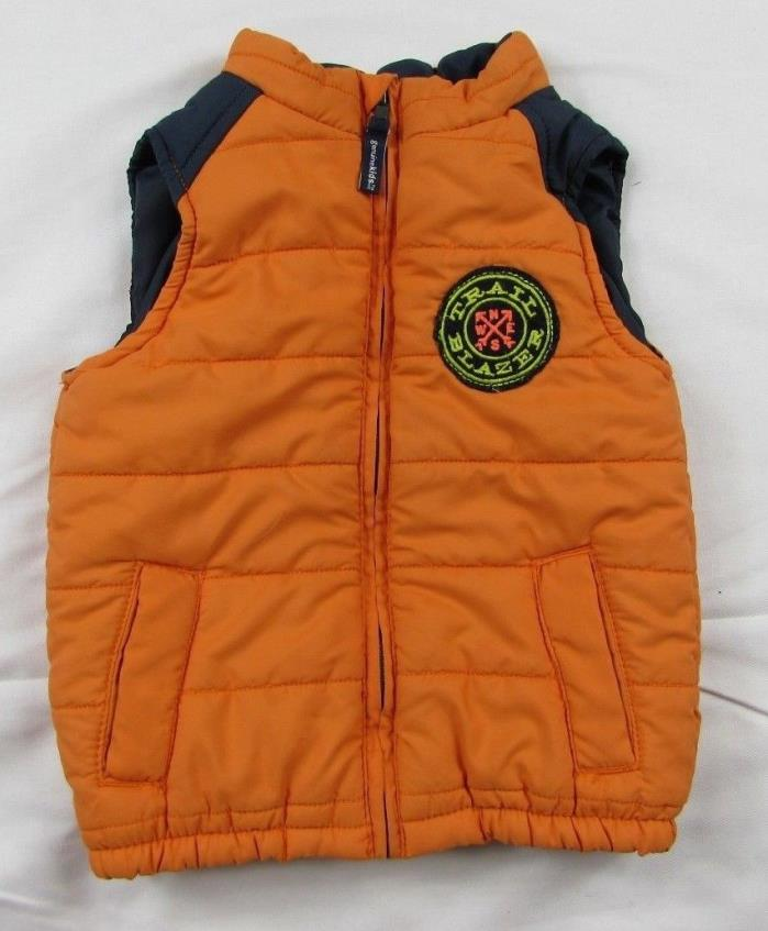 OshKosh Genuine Kids Boys Puffer Vest Jacket Size 24 mo Quilted Toddler Orange