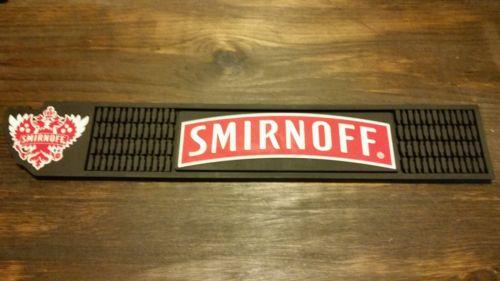 5 New SMIRNOFF VODKA Distillery Bar Collectible Rubber Spill Mat Man Cave ROOM