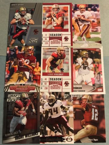 (84) Boston College Eagles Football Card Lot- Flutie- Ryan- Kuechly- Williams