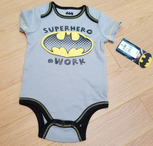 NEW Batman baby One piece Gray size 6/9 months