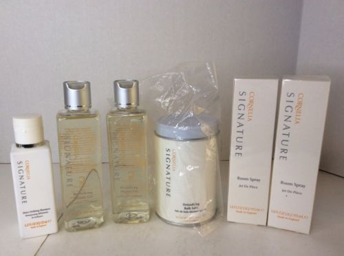 Cornelia Signature Shower Gel Shampoo Bath Salts Room Spray Body Bundle Lot 6 Pc