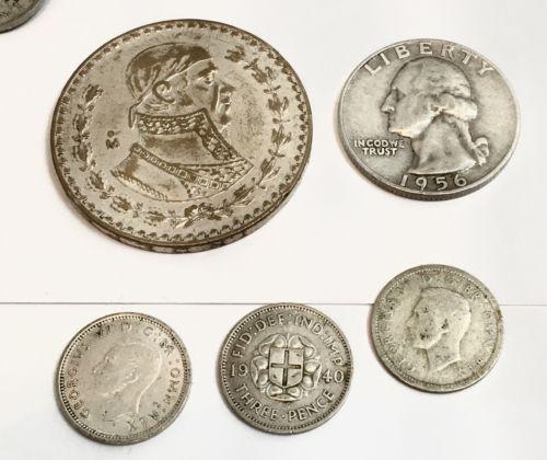 5-Silver Coin's=Lot...Opportunity 4Free Silver Coin's..Read Description..Lot#52A