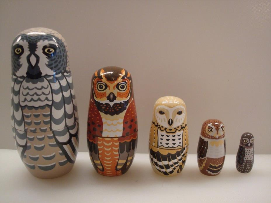Owl Nesting Dolls - Hearthsong - Excellent Condition!!