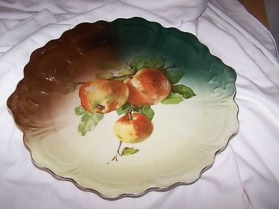 Vintage Punch Z S & C Apple Cabinet Wall Plate Charger Bavaria 7656