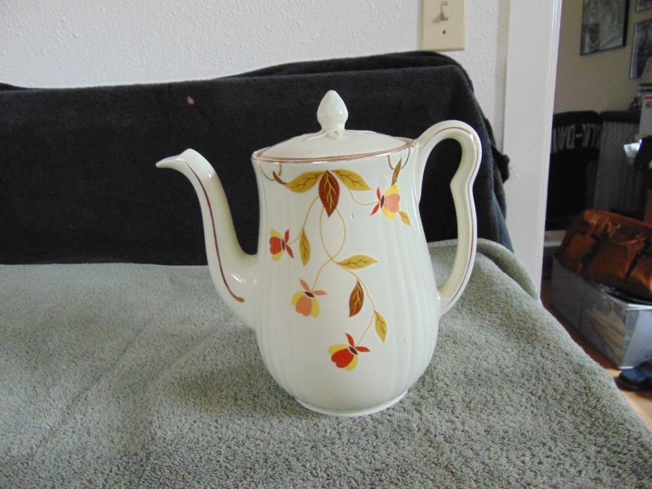 HALL'S SUPERIOR KITCHENWARE - AUTUMN LEAF - TEAPOT LONG SPOUT