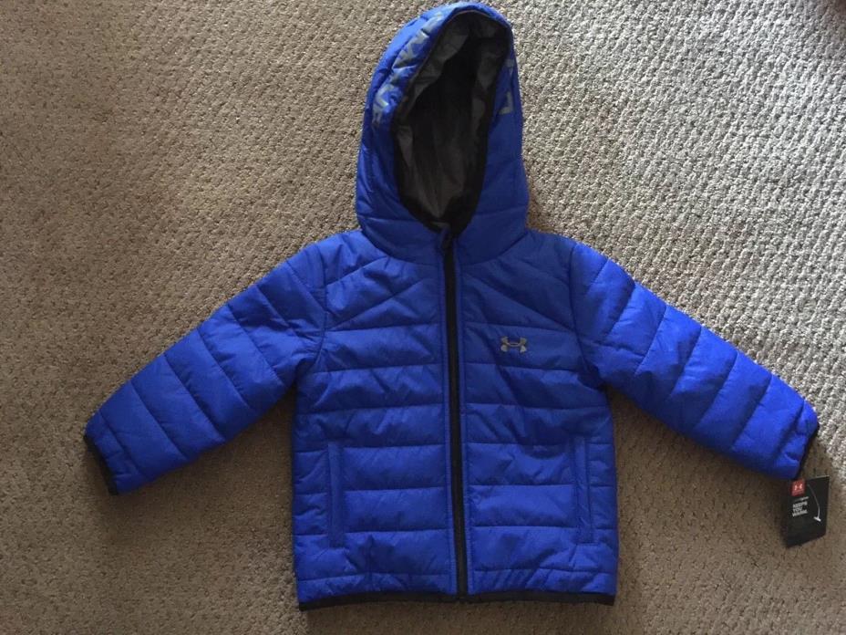 NWT- Under Armour Ultra Blue / Grey Jacket Parka Coat~Size 24 Months~$58