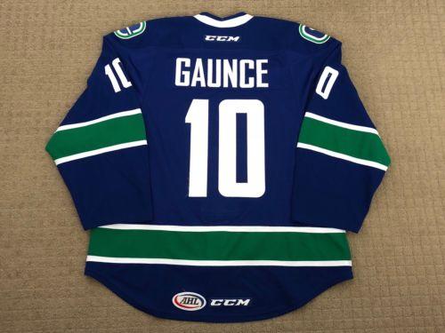 2015-16 Utica Comets AHL Brendan Gaunce Game Worn Jersey